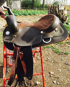 16 inch saddle plus bridles and bits! DEAL