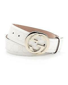 2314a4c18 Men's White Gucci Belt