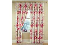 Gorgeous gloral curtains 60 x 90 inch drop