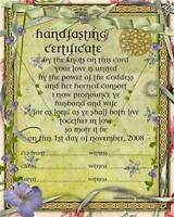 Handfasting ceremonies custom designed to your specifications