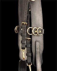 Surcingle, leather (black)