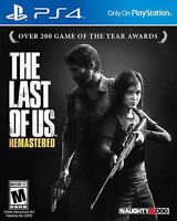 PS4 The Last of Us Remastered Digital Game Voucher/bon numérique