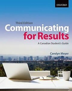 Communicating for Results by Carolyn Meyer 3rd ED