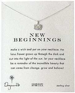 """Dogeared """"Reminders"""" New Beginnings Lotus Pendant Necklace"""