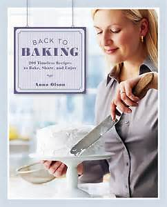 BACK TO BAKING by Anna Olson (hard cover)
