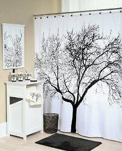 Shower Curtain with Tree Design 100% Waterproof