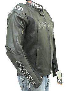 Perrini Tornado motorcycle riding leather jacket with GP Armour
