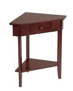 Corner table ebay corner accent tables watchthetrailerfo