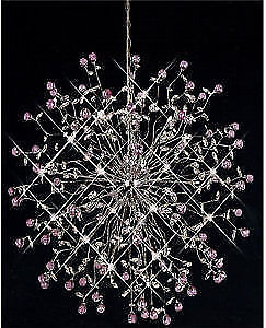 NEW Modern Crystal Chandelier Lights Amethyst and Clear Crystal.