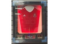 Signed Gareth Bale shirt - Framed