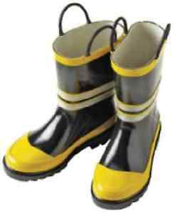 Boys Youth Size 13 ~ Fireman Rubber Boots
