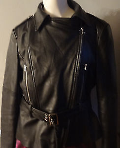 Guess Leather Coat Size Large