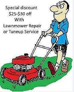 Lawnmower Repair or Tuneup Service Special discount $25-$30 off