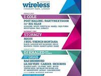 2 * Wireless Friday VIP Festival Tickets