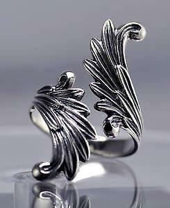 Saint Michael Archangel Wings Ring Sterling Silver 925 jewelry patron of police paramedics firefighters military