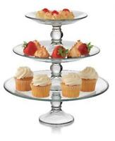 glass 3 tier cake stand