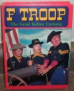 F TROOP HARDCOVER BOOK The Great Indian Uprising 1967 WHITMAN TV