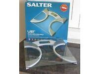 Salter Ultra Slim Glass Body Fat Analyzer Digital Bathroom Scales 9141 WH3