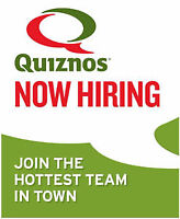 Part-Time leading to Full-Time : Quiznos Sub Dieppe Location