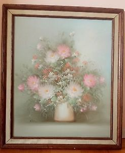 "Original Oil Painting, Roses, signed by Ross, 24,25"" x 28.5"""
