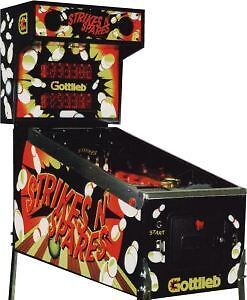 STRIKES  N  SPARES  PINBALL  MACHINE