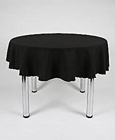 Tablecloths x4 Black Round