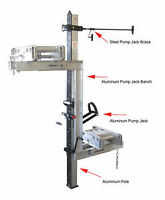 Pump jacks, planks, ladders and accessories