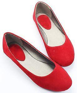 baa37583470 Red Suede Flats