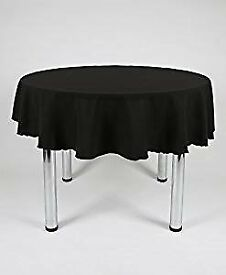 Tablecloths Black Round x3
