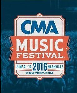 TWO (2) - 2016 CMA Music Festival Tickets (SEC 133, Row S)