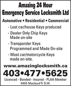 Mobile Locksmith / Automotive Specialist - 24Hr Service Calgary Alberta image 1