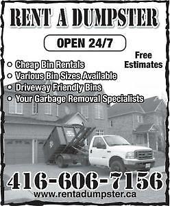 RENT A DUMPSTER !!!! 416-606-7156