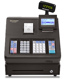 Sharp XE A207 cash register, used, thermal receipt printer,excln