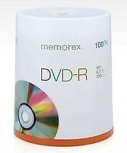 Memorex 16x DVD-R Media - 4.7GB - 120mm Standard - 100 Pack Spin