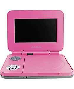 Alba 7 Inch Pink Portable DVD Player- RRP £59.99
