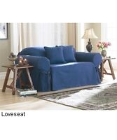 2 Slipcovers pour sofa-loveseat