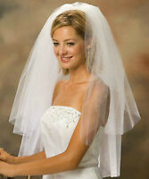 Brand new 2 and 3 layers white wedding veils