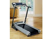 ROGER BLACK AND GOLD MEDAL FOLDING TREADMILL