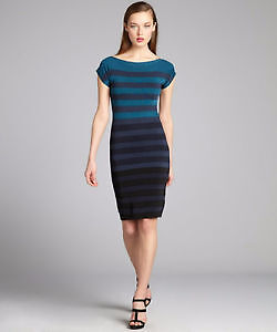 New French Connection Teal Bandage Dress