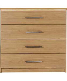 Normandy 4 Drawer Chest - Oak Effect