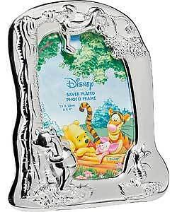 WINNIE THE POOH SILVER PLATED PICTURE FRAME Christening etc Brand New