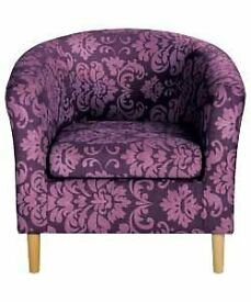 AUBERGINE TUB CHAIR
