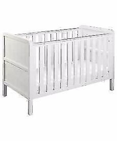 Curve Nursery Cot Bed - White.NEW BOXED RRP £169