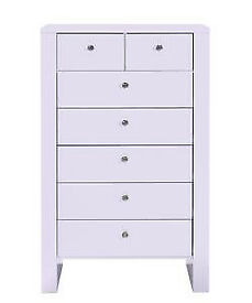 Vienna 5+2 Drawer Chest - Soft Lilac