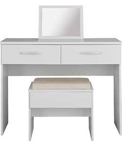 New Hallingford Dressing Table, Stool and Mirror - White