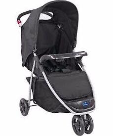 BabyStart Ria 3 Wheeler Pushchair - Black