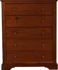 Warwick 5 drawer chest - Dark