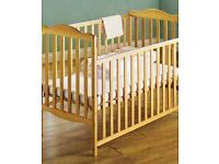 Lovely Mamas & Papas Cot with Mattress