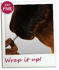 iCraveBeauty - How to fit the Big Round - Step 5 Wrap it up