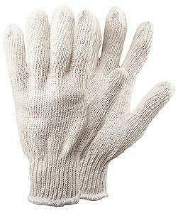White Standard Weight String Knit Body Guard Glove Pair